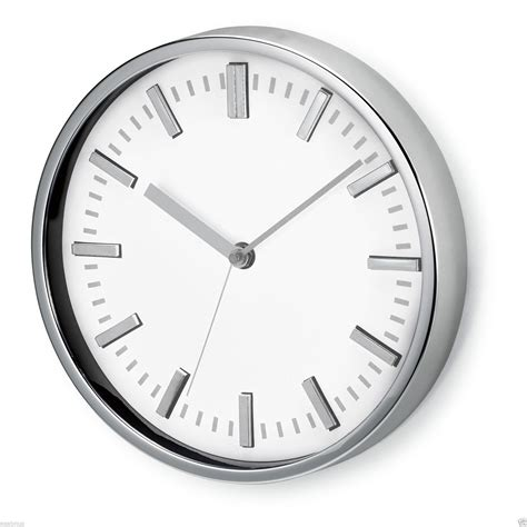"9"" Wall Clock  Large Analogue Modern Round Home Kitchen"