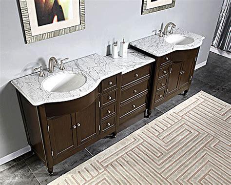 "Silkroad 95"" Modular Bathroom Vanity Espresso Finish With"