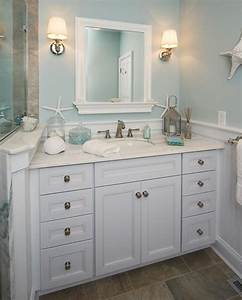 Delorme designs nautical bathrooms for Kitchen cabinet trends 2018 combined with potterybarn wall art