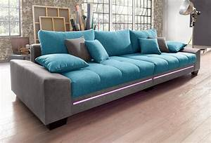 Sofaüberwurf Für Xxl Sofa : big sofa mit beleuchtung wahlweise mit bluetooth soundsystem online kaufen otto ~ Bigdaddyawards.com Haus und Dekorationen