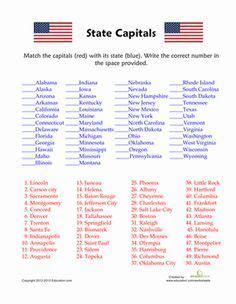 states  capitals quiz  states worksheets