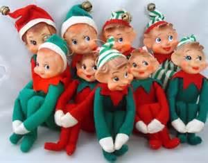 vintage felt christmas elves elf on a shelf carol aebersold ruby lane blog