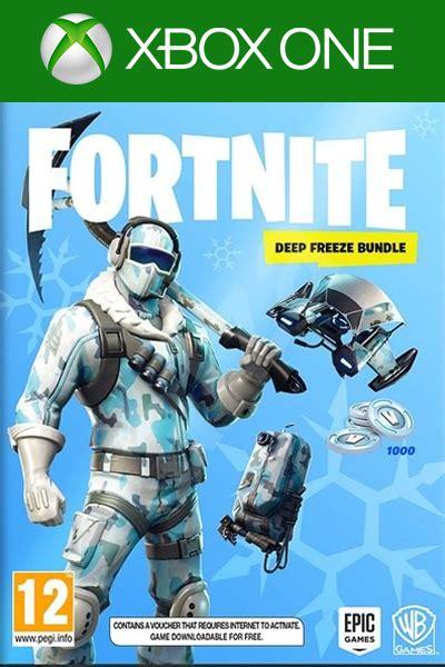xbox  jeux codes fortnite deep freeze bundle dlc xbox