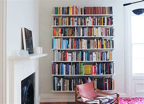 wall mounted book shelves room remodel