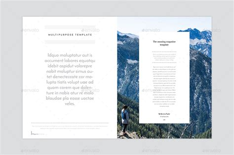 Magazine Template Indesign Magazine Template Templates Data