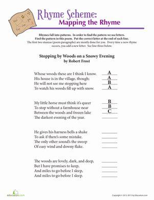 math for fourth graders free robert rhyme scheme worksheet education