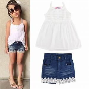 2pcs Kids Baby Girls Outfits Set Tank Top T-shirt Dress ...