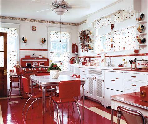 mid century kitchen  red restoration design