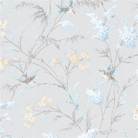 hailey grey blue floral birds glitter highlight
