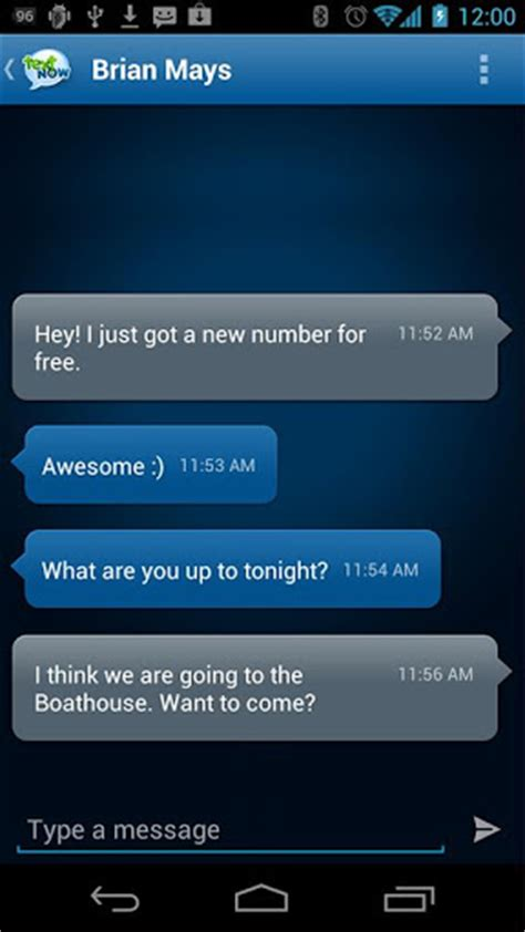 phone call from my own number text now apk for android