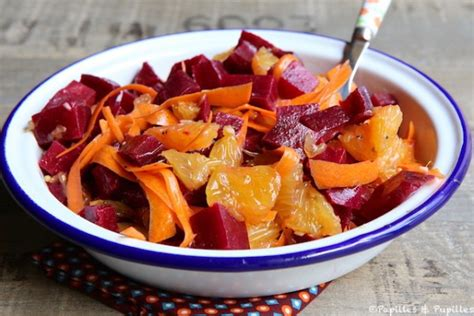 couleurs pour une cuisine salade de betteraves oranges et carottes