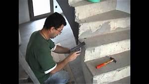 Habiller Un Escalier En Béton Brut : escalier en b ton cir youtube ~ Nature-et-papiers.com Idées de Décoration