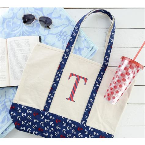 diy personalized bag     monogram tote easy