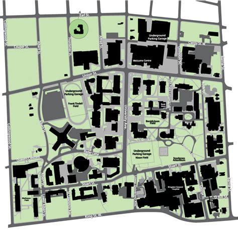 main campus queens university campus map