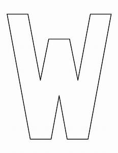 Letter W pattern. Use the printable outline for crafts ...