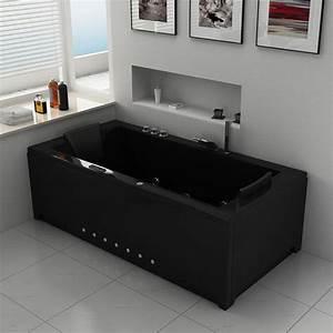 Baignoire 2 Places Balneo : baignoire baln o rectangulaire london black ~ Edinachiropracticcenter.com Idées de Décoration