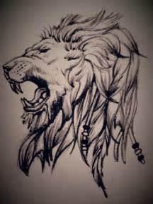Drawing Roaring Lion Tattoo