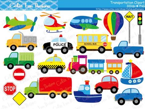 Transportation Clipart Car Taxi School Bus Police Car