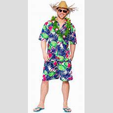 Hawaiian Suit Mens Fancy Dress Beach Hula Party Tropical