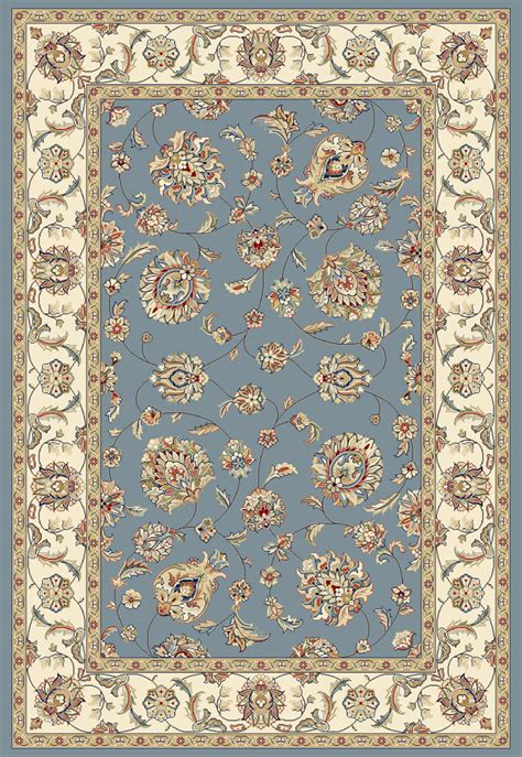 dynamic rugs ancient garden 57365 5464 lt blue ivory 54