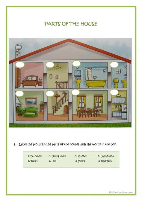 esl parts   house worksheets