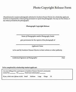 9 sample copyright release forms sample templates With photographer copyright release form template