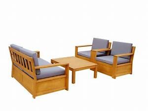 Salon De Jardin En Bois : salon de jardin malta en bois d 39 eucalyptus 2 fauteuils ~ Dailycaller-alerts.com Idées de Décoration