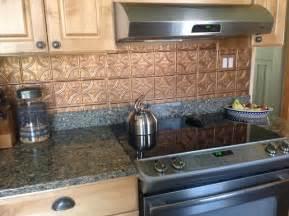 shiny copper backsplash contemporary kitchen ta