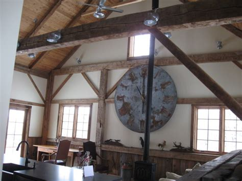 Galvanized Barn Lights, Ceiling Fans Complete Rustic Barn