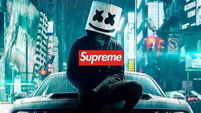 Supreme 4k Background Marshmello Desktop Wallpapers Laptop