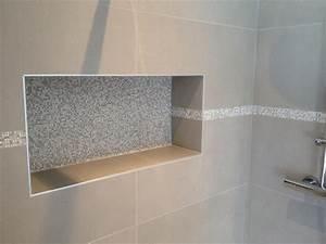niche douche italienne salle de bain pinterest With carrelage adhesif salle de bain avec spot led douche italienne
