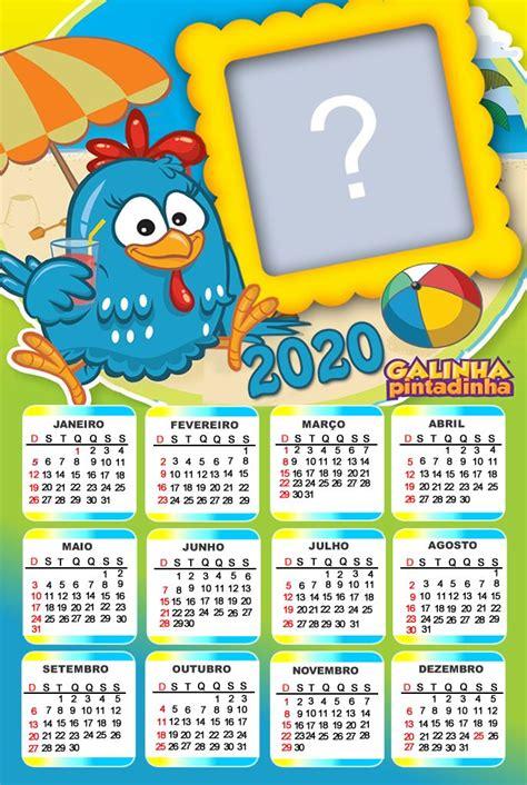 Calendario 2020 da Galinha pintadinha Para fazer adicione