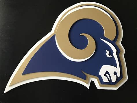 st louis rams   logo sign wood sign wall decor los