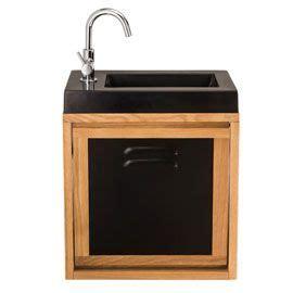 meuble lave mains indus plan vasque lave mains seymour noir 23 x 44 cm bathroom