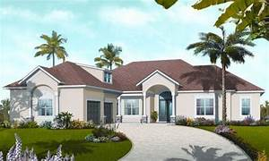 Mediterranean, Style, House, Plan, Ft