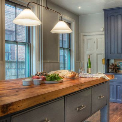 farmhouse kitchens designs rustic butcher block countertop for home 3710