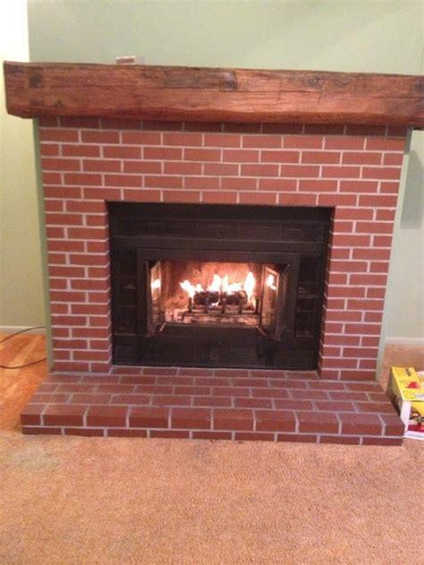 brick fireplace red brick fireplace