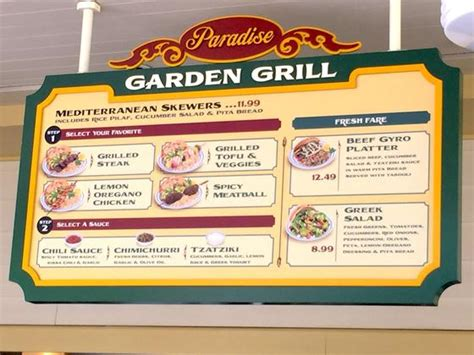 garden grill menu where to eat lunch at smokejumpers grill in disney