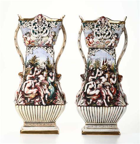 vasi capodimonte antichi coppia di vasi italia xx secolo antiquariato cambi