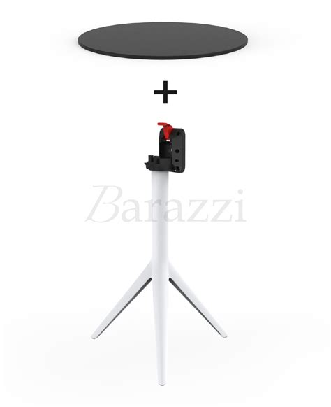 table cuisine retractable mari sol folding tripod restaurant table with hpl