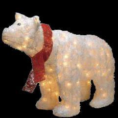 outdoor lighted polar bear