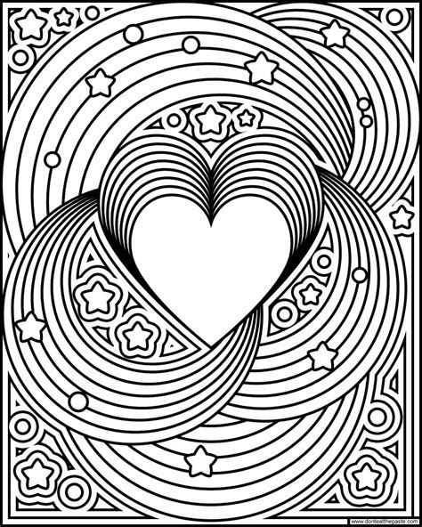 dont eat  paste rainbow love coloring page