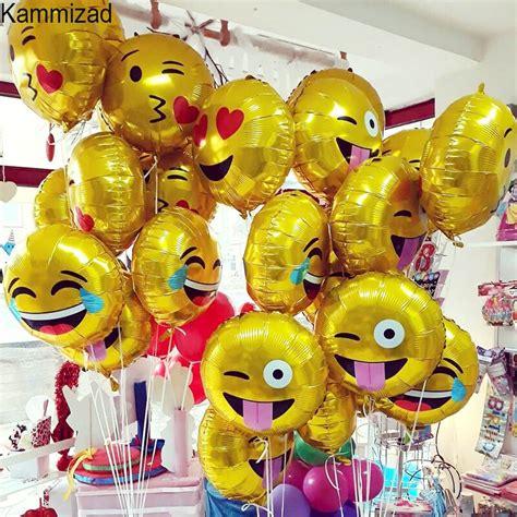 emoji party foil balloon pcslot unicorn balloons