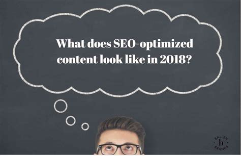 what does seo optimized content look like in 2018