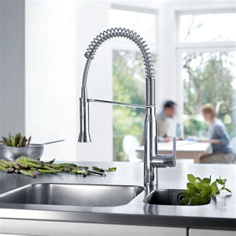 professional kitchen faucets home amazon com grohe 31380000 k7 medium semi pro kitchen