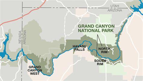 map  grand canyon usa printable