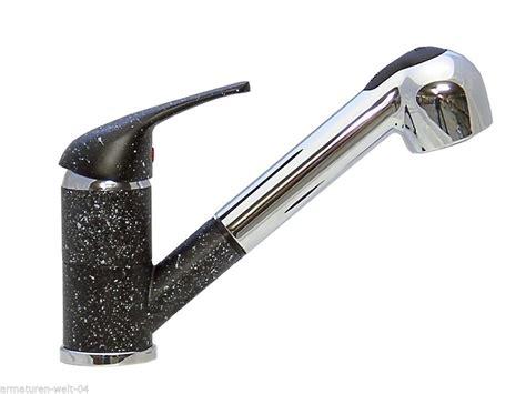 granit spüle armatur k 252 chenarmatur sp 252 ltisch wasserhahn armatur brause granit schwarz chrom wagner armaturenwelt