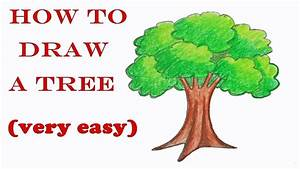 How To Draw A Tree Step By Step   Very Easy