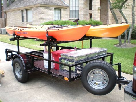 kayak rack for trailer 23 best diy kayak haulers images on bricolage