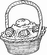Easter Basket Coloring Pages Baskets Holidays Coloringpages101 Comments sketch template
